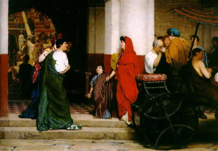 alma tadema, entrance-to-a-roman-theatre-1866.jpg!Large